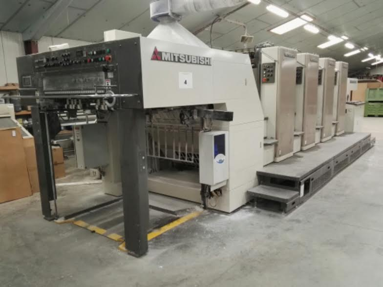 Used MITSUBISHI 4 color machine