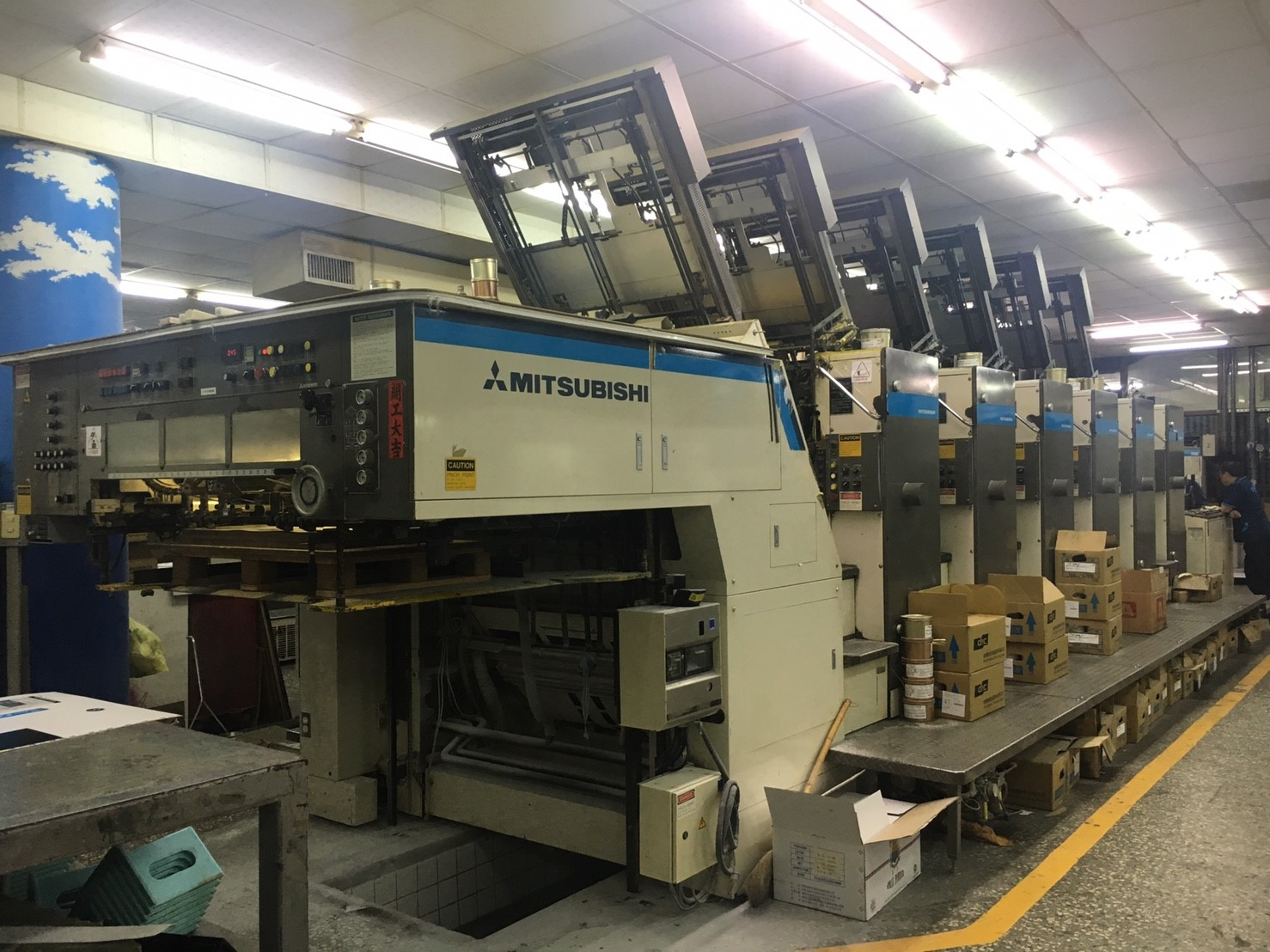Used MITSUBISHI 6 color machine
